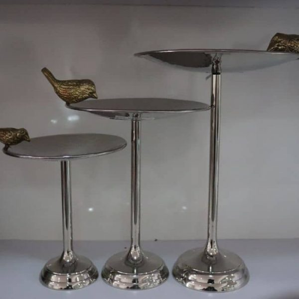 Footed Bird Cake Stand