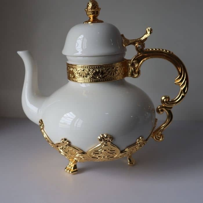 Footed Gold Teapot