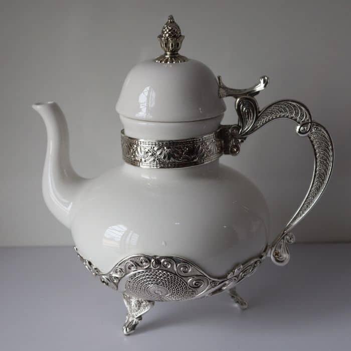 Footed Silver Teapot
